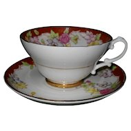 Lovely Vintage Stanley England Floral Teacup and Saucer
