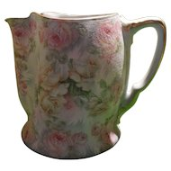 Royal Bayreuth Tapestry Rose Small Pitcher Blue Mark