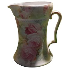 Royal Bayreuth Tapestry Rose Tall Creamer Blue Mark