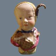 Antique Meissen Porcelain Bust Figurine Bourbon Child