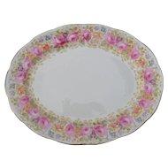 "Royal Albert Serena Pink Roses Floral 839329 Platter 12 1/2"""