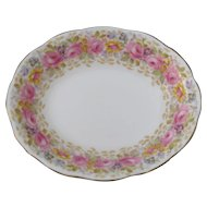"Royal Albert Serena Pink Roses Floral 839329 9"" Open Vegetable Bowl"