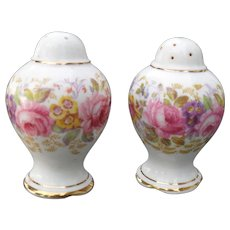 Royal Albert Serena Pink Roses Floral 839329 Salt and Pepper Bulb Top