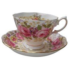 Royal Albert Serena Pink Roses Floral 839329 Teacup and Saucer Malvern