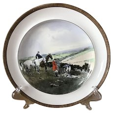 Vintage Copeland Lionel Edwards Gone to Ground No. 8 Fox Hounds Equestrian Dinner Plate