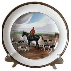 Vintage Copeland Lionel Edwards A Check No. 4 Fox Hounds Equestrian Dinner Plate