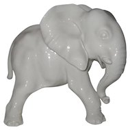 Nymphenburg Blanc de Chine Elephant Figurine 656