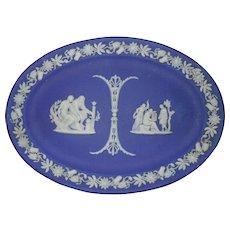 Early Wedgwood Jasperware Blue Dip Tray Platter