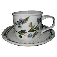 Charming Portmeirion Botanic Garden Speedwell Breakfast Cup and Saucer