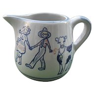 Vintage Louisville Kentucky Milk and Honey Farmer and Cow Pitcher