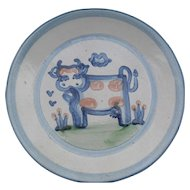 Vintage MA Hadley Country Pattern Cow Dinner Plate