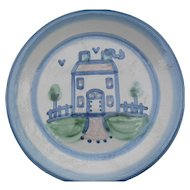Vintage MA Hadley Country Pattern Farmhouse Dinner Plate