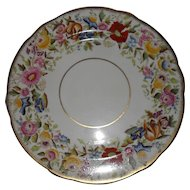 Vintage Hammersley Queen Anne Morning Glory Gilt Gold Dinner Plate 13166