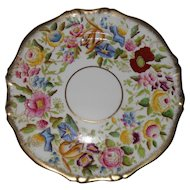Vintage Hammersley Queen Anne Morning Glory Gilt Gold Salad Plate 13166