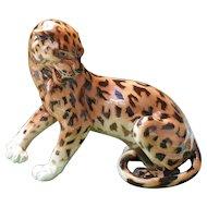 Large Ferocious Vintage Royal Dux Leopard Figurine 1912-39