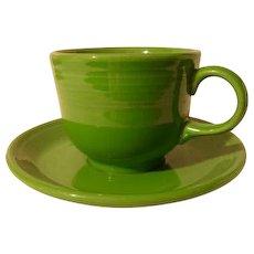 HLC USA Fiesta Fiestaware Shamrock Green Cup and Saucer