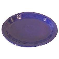 """Vintage Fiesta Fiestaware Blue Oval 12 1/2"""" Platter"""