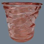 Schneider France Cordee Pink Glass Vase 1930's