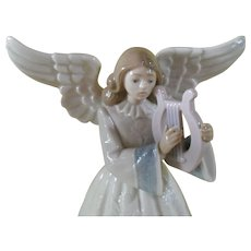 Lladro 5830 Heavenly Harpist Figurine Tree Topper Limited Edition Retired w/ Box