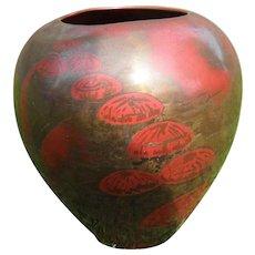 Rare WMF Germany Ikora Jellyfish Copper on Brass Vase