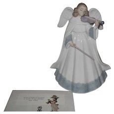 Lladro 6126 Angelic Violinist Figurine Tree Topper Limited Edition Retired w/ Box