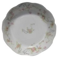 Haviland Limoges The Princess Berry Bowl Pink Roses/Blue Ribbons 5 3/4""