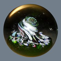 Caithness Scotland Myriad Twisted Harlequin Glass Paperweight Second CIIG