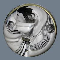 """Signed Vintage Caithness Scotland Snow Trail Paperweight 3"""""""