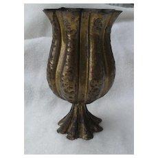 Art Nouveau Wiener Werkstätte Josef Hoffmann Hammered Brass Vase 1910-20