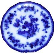 """Early Flow Blue F & R Pratt """"Indian"""" Pattern Dinner Plate 1850's"""