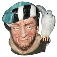 Royal Doulton Miniature The Falconer Toby Jug D 6547 1959