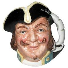 Vintage Royal Doulton Miniature Captain Henry Morgan Toby Character Jug.  D6510 1957