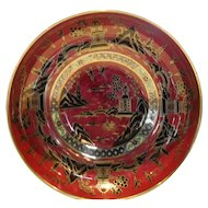 Aynsley Red Lustre Pagoda Console Bowl D391