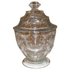 EAPG Ashburton Pressed Glass Covered Sugar Bowl