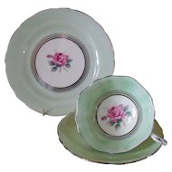 Vintage Paragon DW Queen Mary Pink Rose Teacup Saucer Trio