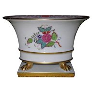 Stunning Herend Chinese Bouquet Claw Footed Jardiniere Urn 6456 AF