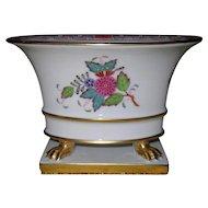 Stunning Herend Queen Victoria Claw Footed Jardiniere Urn 6456 AF