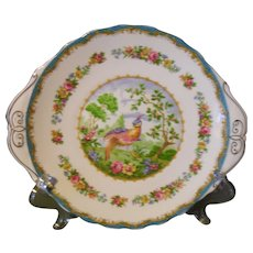 Royal Albert Chelsea Bird Blue Cake Plate
