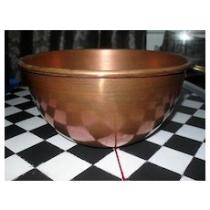 Victorian Antique Copper Egg White Bowl