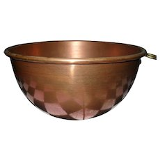 Victorian Antique Copper Egg White Bowl