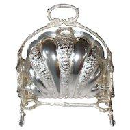 Victorian Walker and Hall Sheffield Silverplate Biscuit Bun Warmer 1880