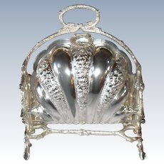 Victorian Walker and Hall Sheffield Silverplate Biscuit Bun Warmer 1880