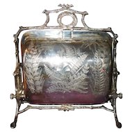 Aesthetic Fern Fenton Bros Silverplate Biscuit Warmer
