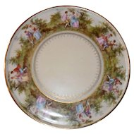 Beautiful Royal Vienna Romantic Scene Round Plate Platter