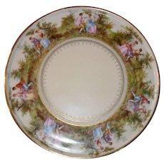 Beautiful Royal Vienna Romantic Scene Round Plate Platter