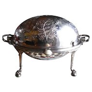 Victorian Silverplate Revolving Dome Server