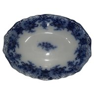 Wood and Sons Flow Blue ROYAL Oval Vegetable Bowl 1898 9""