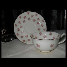 Vintage Hammersley Sweetheart Rose Teacup and Saucer 4049A