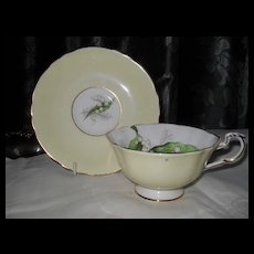 Paragon DW Lily of the Valley Yellow To The Bride Teacup and Saucer