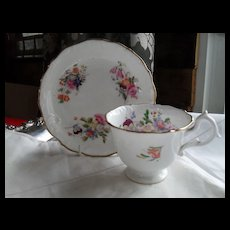 Antique Hilditch England Floral Teacup and Saucer